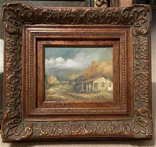 "Mary Ellen Sligh ""Dusty Texas Road"" Landscape Oil"