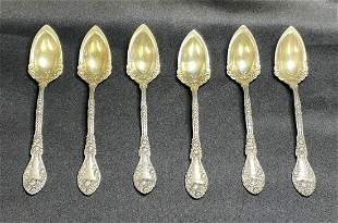 6 Sterling Silver Serving Spoons, William B. Durgin Co.