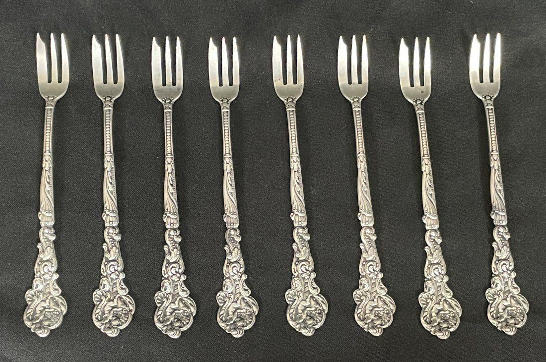 Gorham Versailles Motif Pattern, 8 Sterling Forks