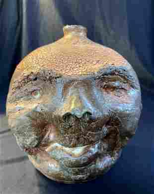 Appalachian Stoneware Face Jug by James Sullivan