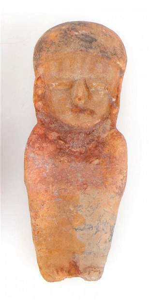 Large Pre-Columbian Polychrome Figural Pottery Whistle