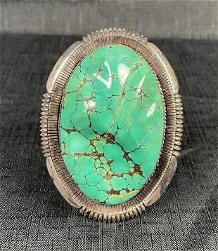 Fine Native American Navajo Sterling Turquoise Cuff