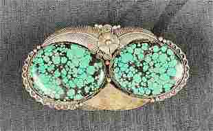 Native American Navajo Sterling Turquoise Cuff Bracelet