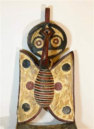 Large African BWA Butterfly Mask - Rare Type