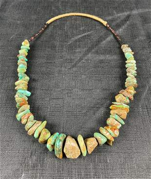 Vintage Native American Turquoise Stone Nugget Necklace