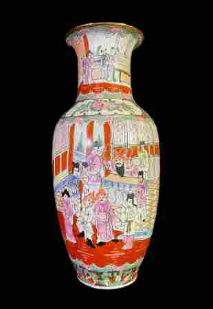 Chinese Signed Hand-painted Porcelain Vase