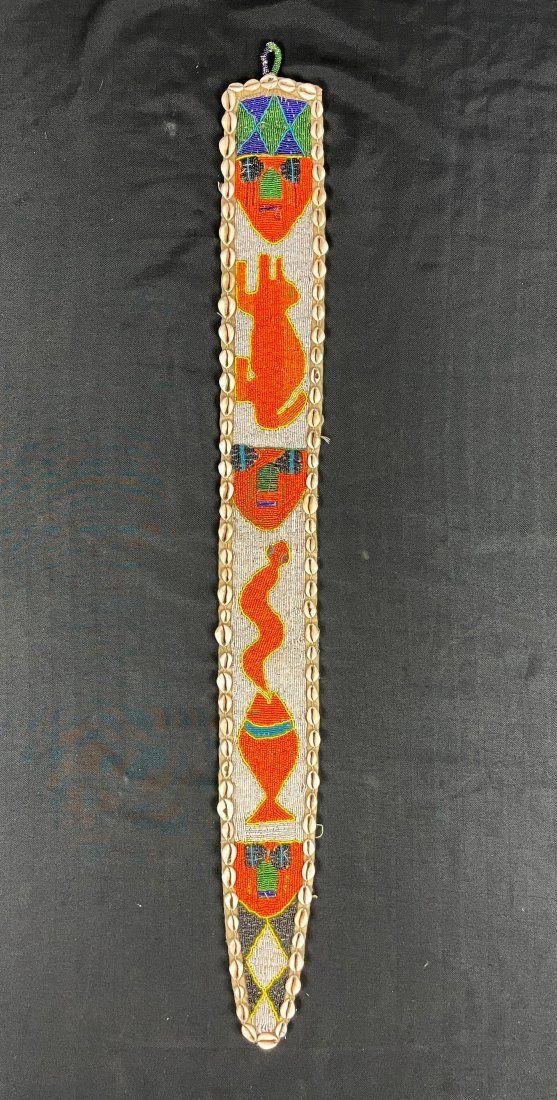 Vintage Yoruba Beaded Ceremonial Sash, Nigeria