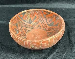 Anasazi St. Johns Polychrome Ceramic Bowl - Native