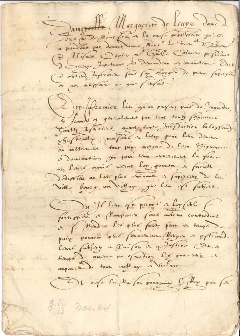 A6. MONTFRIN. Mémoire manuscrit (minute) signé « G. Nic