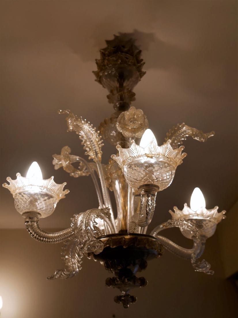 MURANO - Lustre en verre de murano - H : 70cm