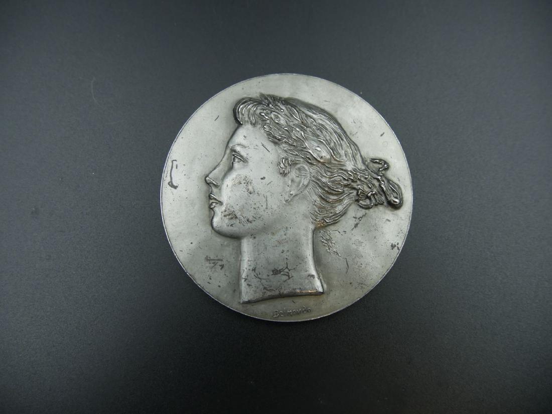 Paul BELMONDO (1898-1982) - Médaille en bronze argenté