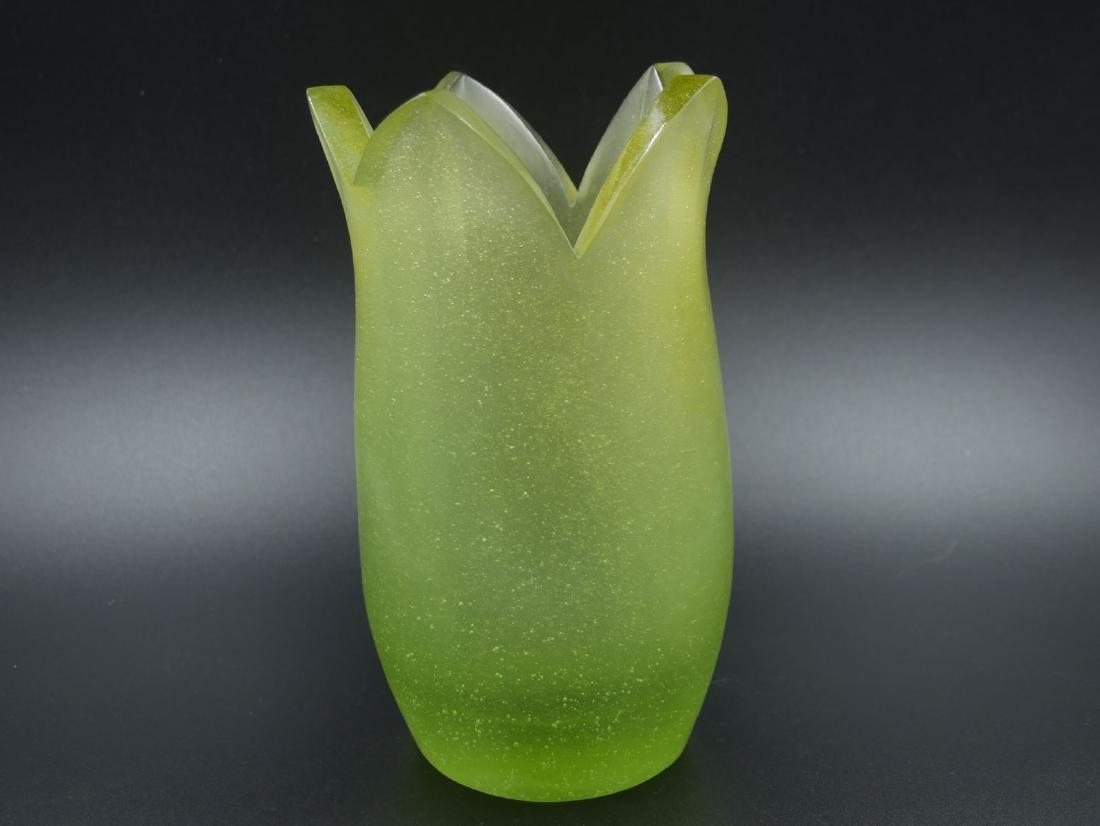 DAUM France, Enzo MORI, Numéroté 88/350, vase en forme