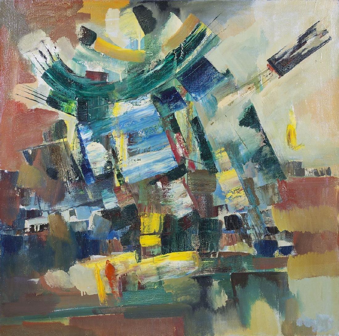 Vartan AVAKIMIAN (XX) - Composition - Huile sur toile -