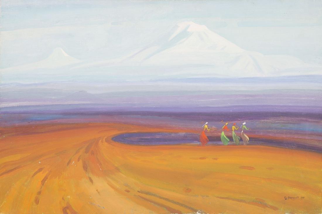 Alexandre KEVORKIAN (XX) - Au pied du mont Ararat - Hui
