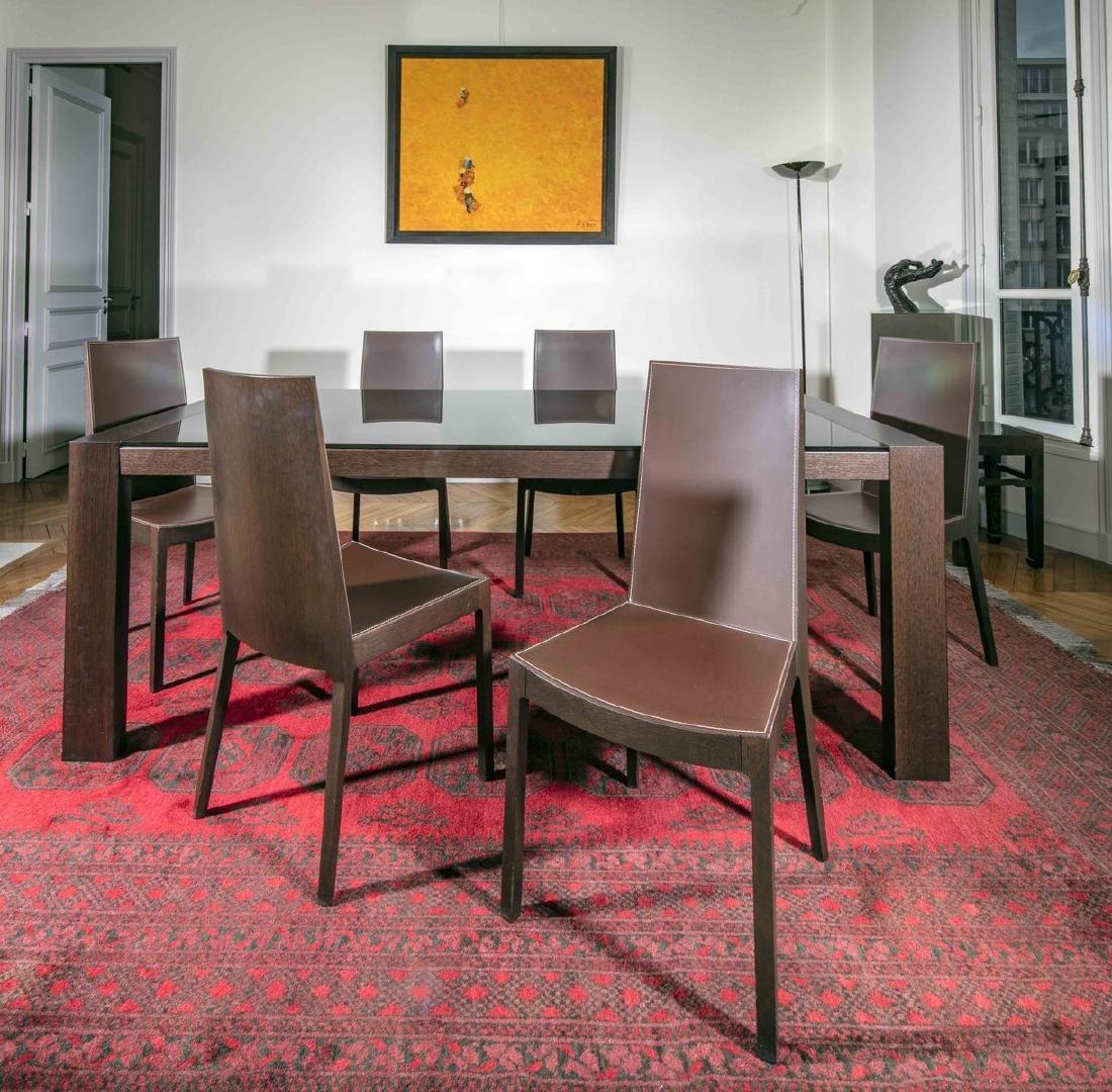 Table de salle à manger  de forme rectangulaire design
