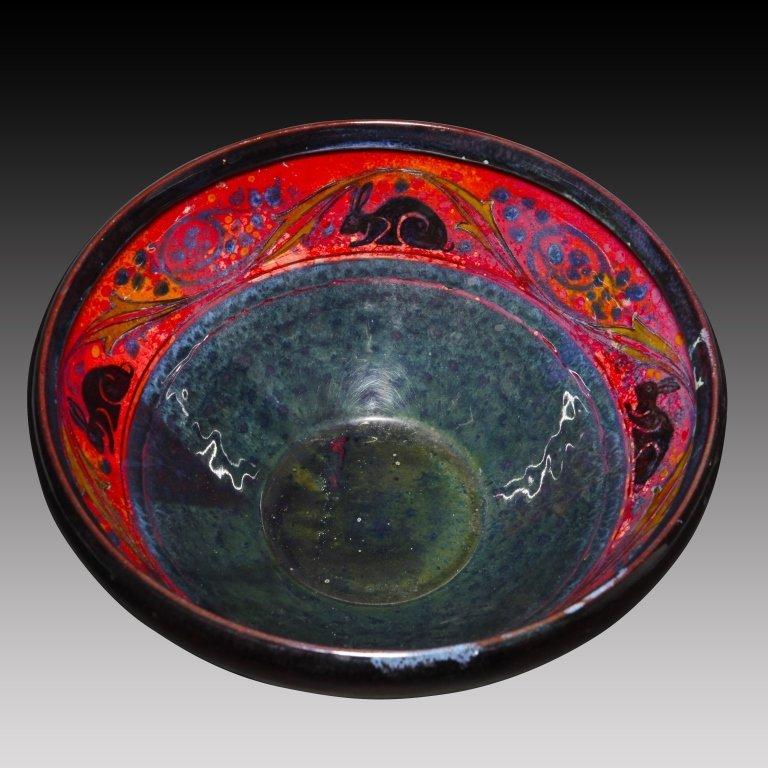 Doulton Sung Flambé Bowl with Rabbit