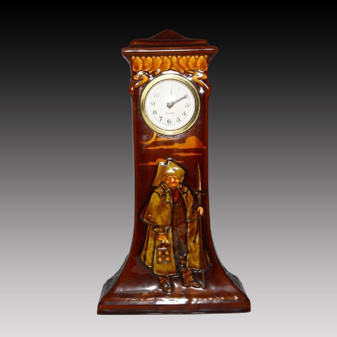Doulton Kingsware Night Watchman Case Clock