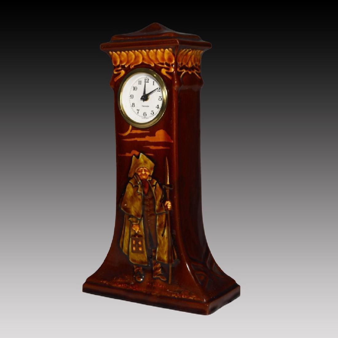 Doulton Kingsware Night Watchman Case Clock - 2