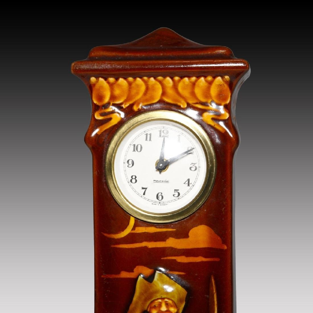 Doulton Kingsware Night Watchman Case Clock - 4