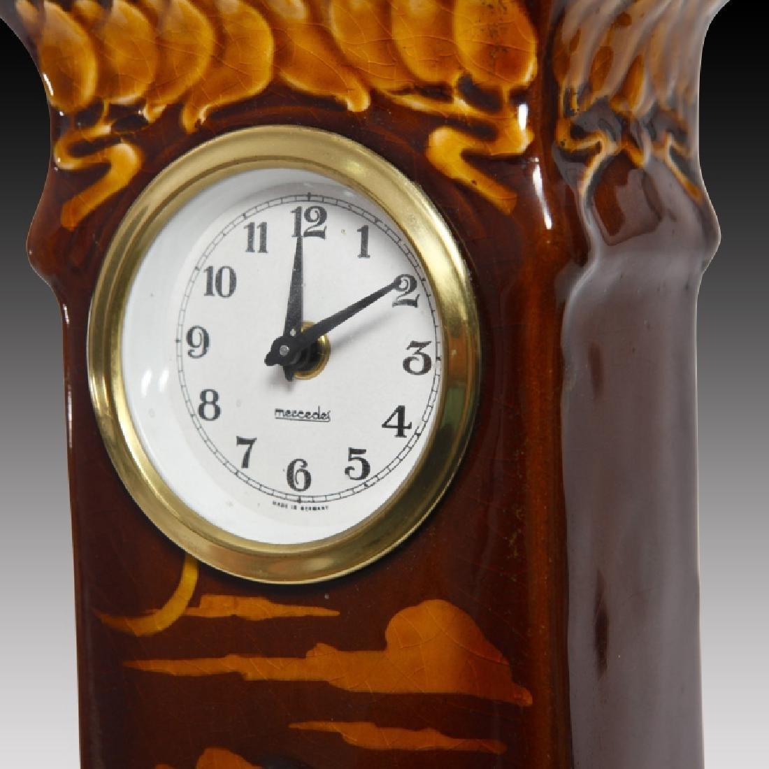 Doulton Kingsware Night Watchman Case Clock - 5