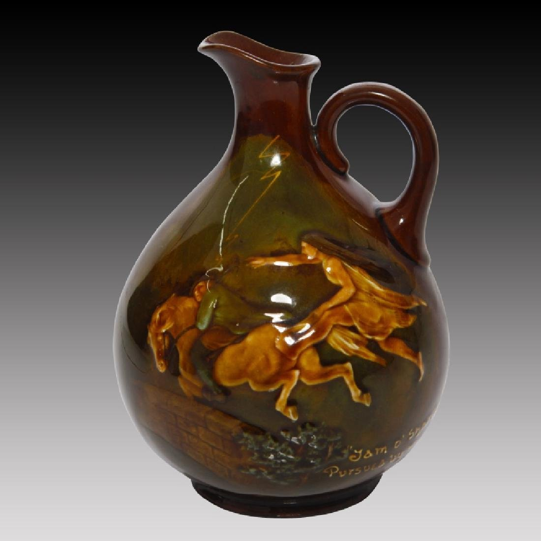 Doulton Kingsware Whiskey Flask with Tam O' Shanter