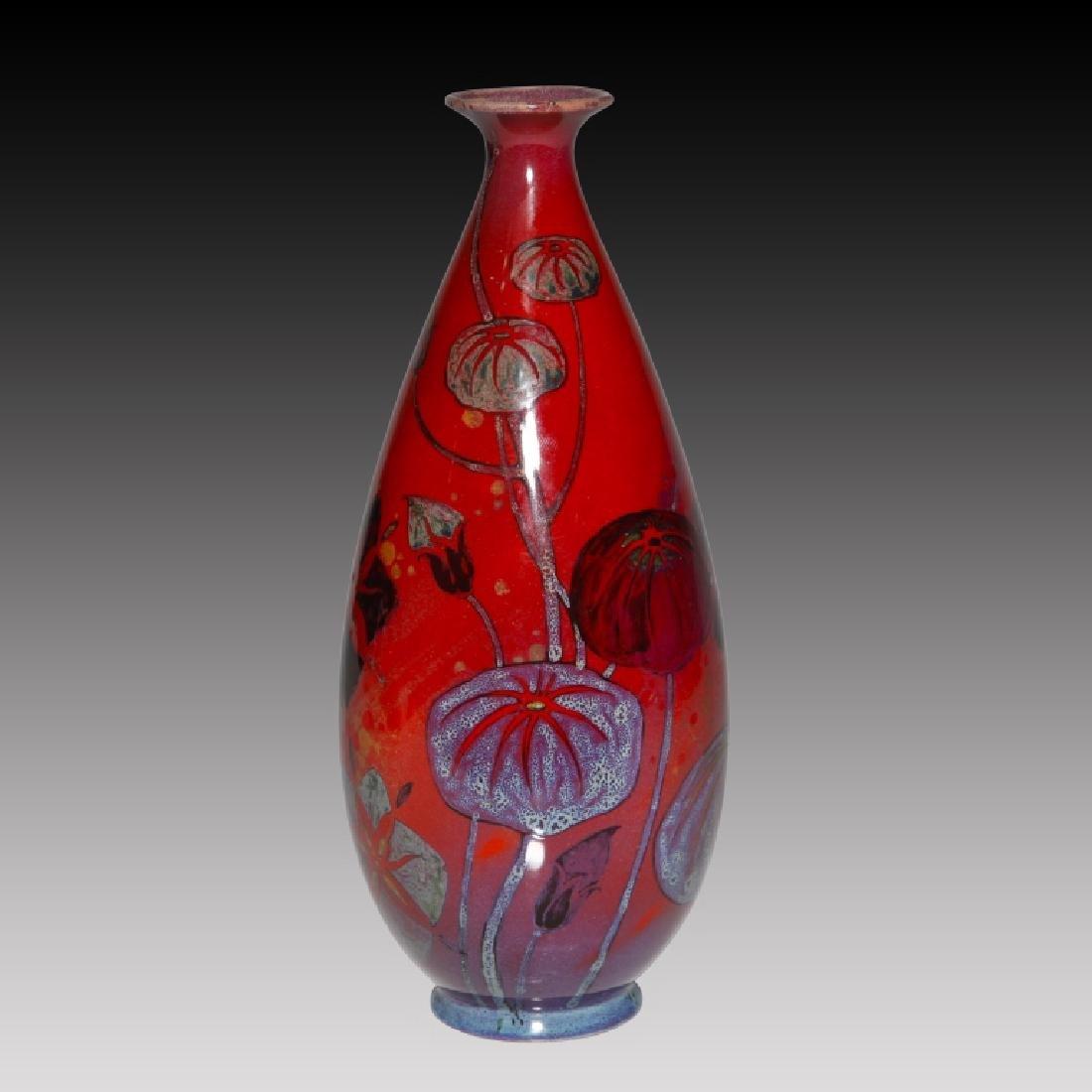 Doulton Sung Flambé Opium Poppy Vase