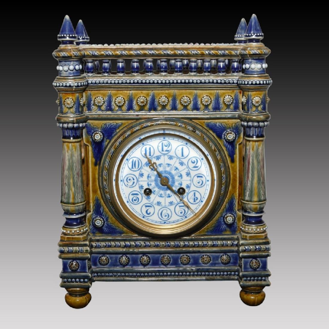 Monumental Doulton Tinworth Cherub Mantel Clock