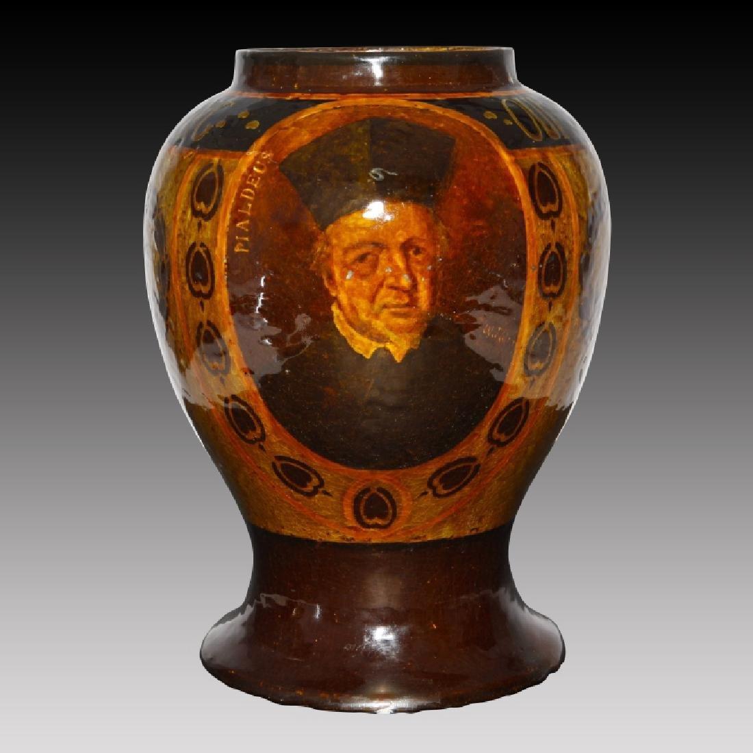 Monumental Doulton Rembrandt Ware Cardinal Vase