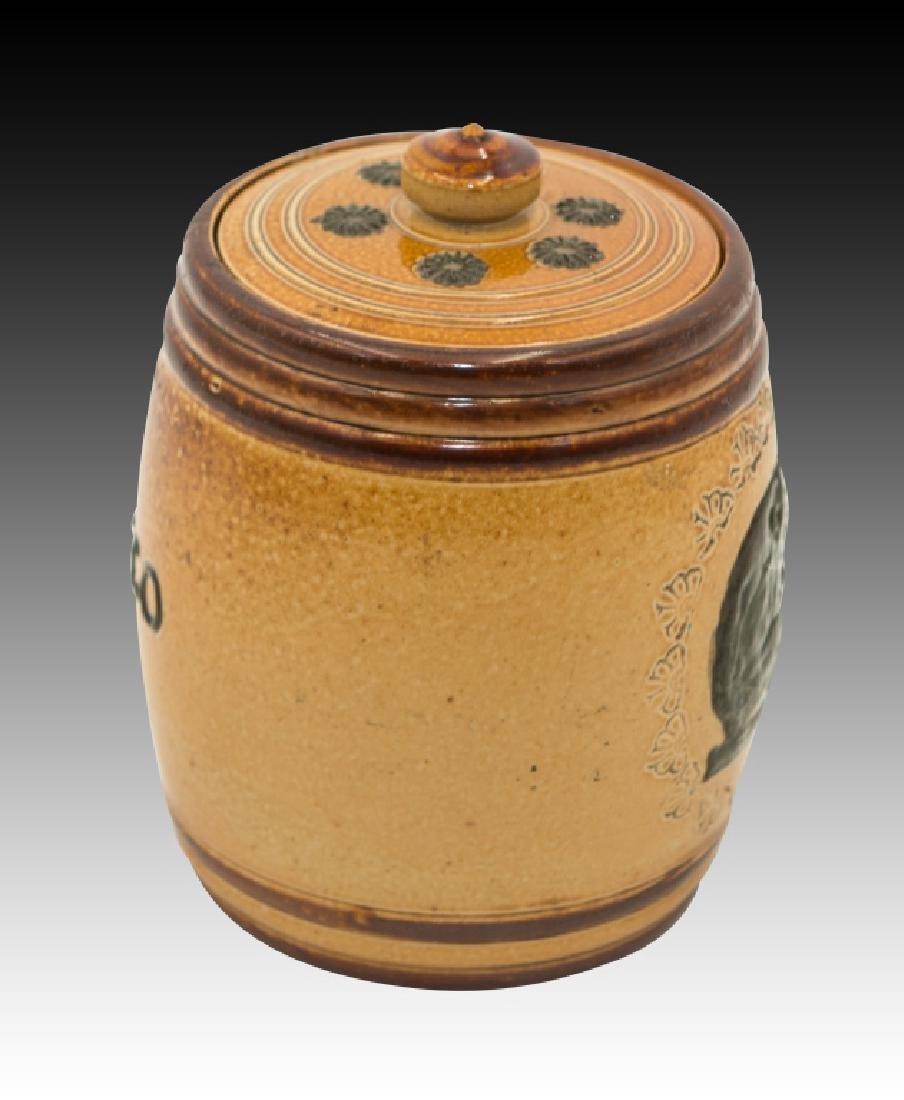 Royal Doulton 2 Stoneware Lidded Tobacco Jars - 10