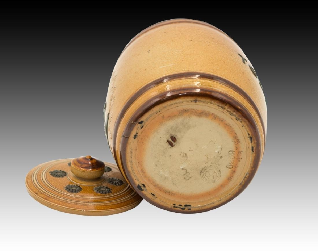 Royal Doulton 2 Stoneware Lidded Tobacco Jars - 11