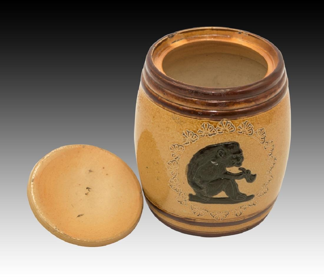 Royal Doulton 2 Stoneware Lidded Tobacco Jars - 12
