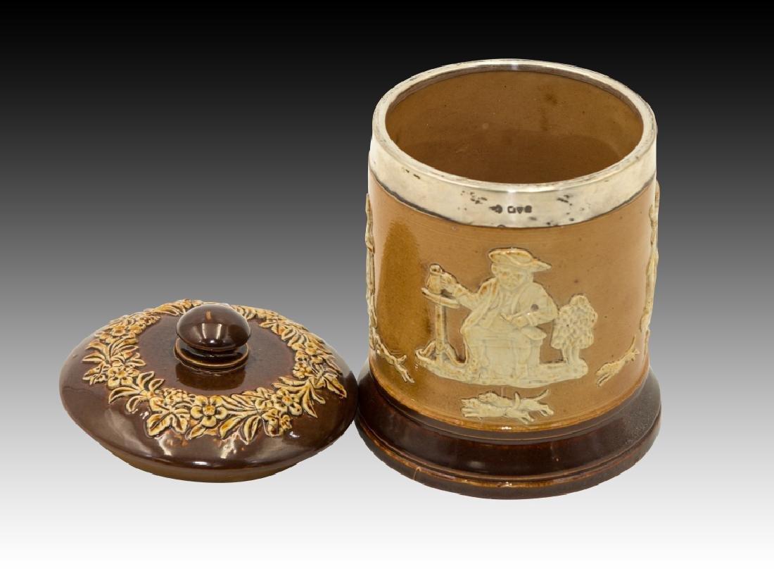 Royal Doulton 2 Stoneware Lidded Tobacco Jars - 2