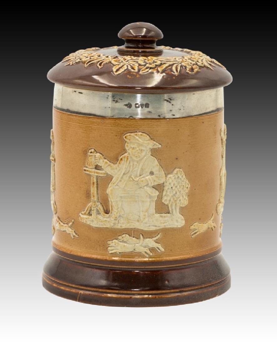 Royal Doulton 2 Stoneware Lidded Tobacco Jars - 3