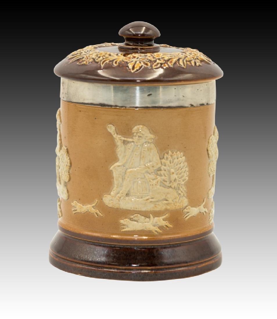 Royal Doulton 2 Stoneware Lidded Tobacco Jars - 4