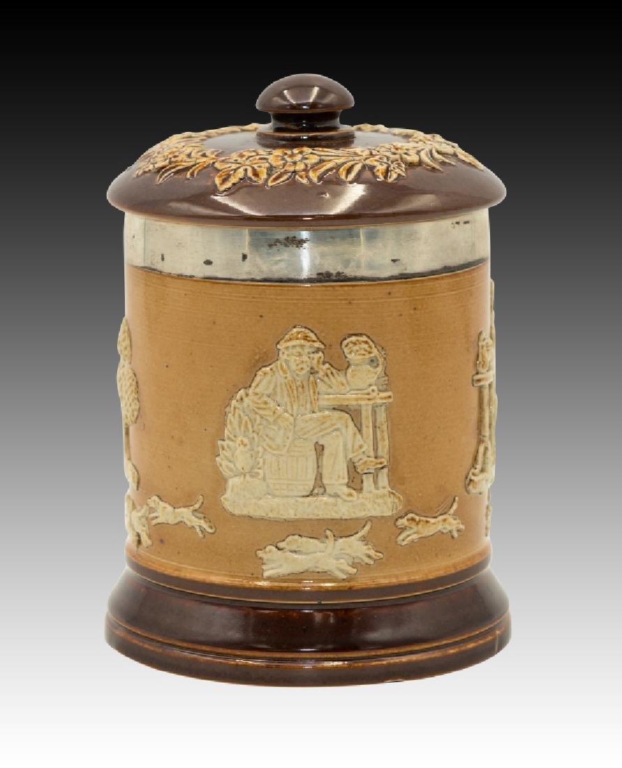 Royal Doulton 2 Stoneware Lidded Tobacco Jars - 5