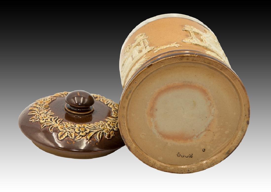 Royal Doulton 2 Stoneware Lidded Tobacco Jars - 6