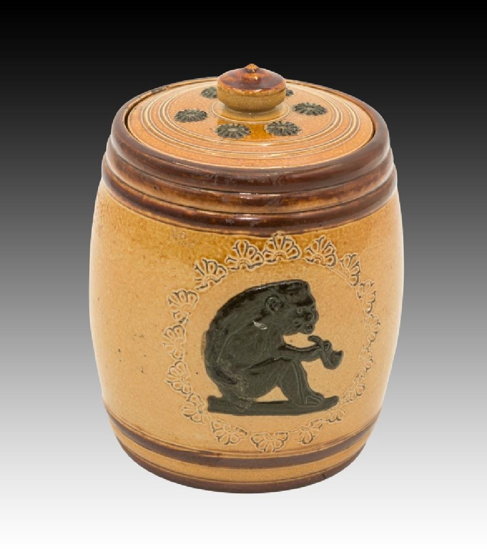 Royal Doulton 2 Stoneware Lidded Tobacco Jars - 7