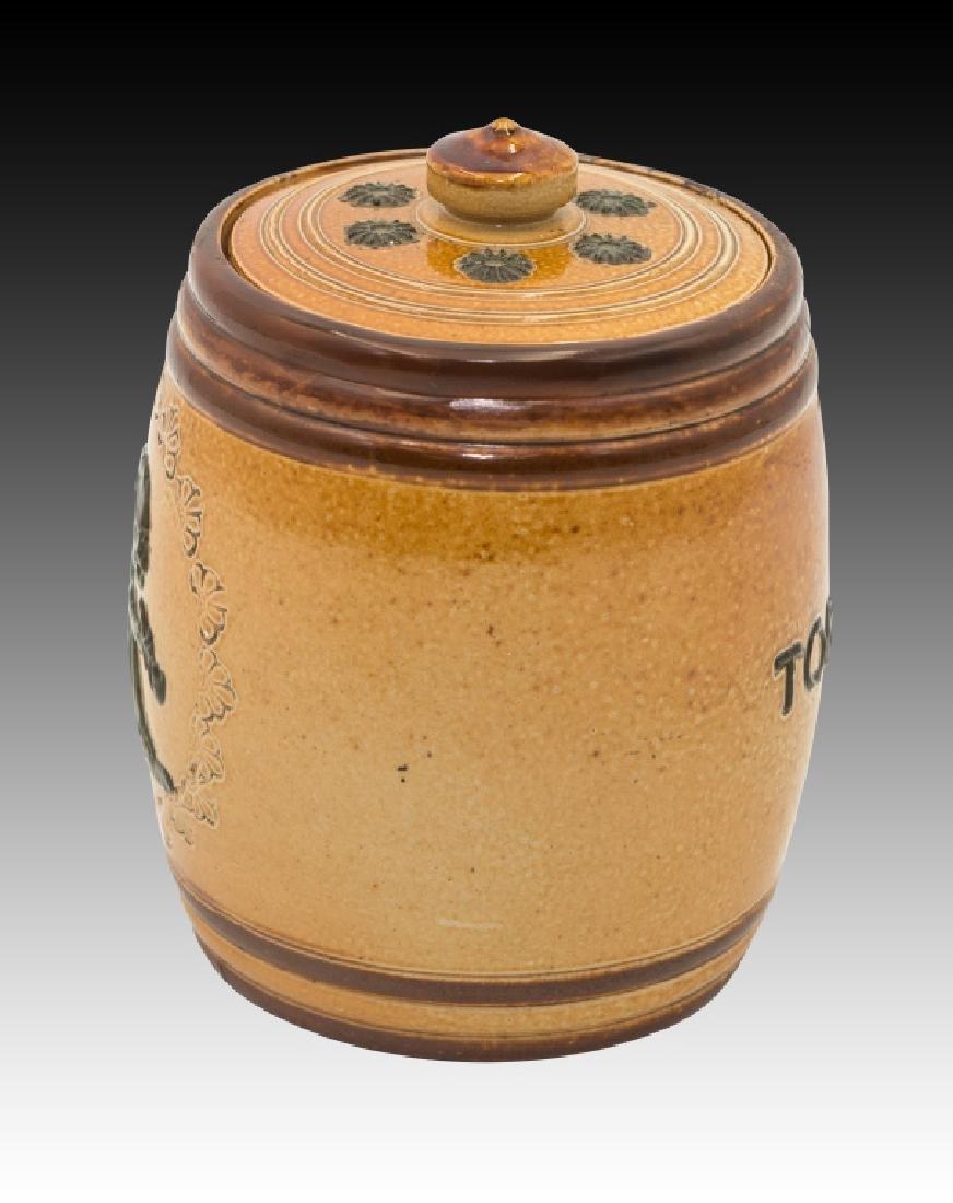 Royal Doulton 2 Stoneware Lidded Tobacco Jars - 8