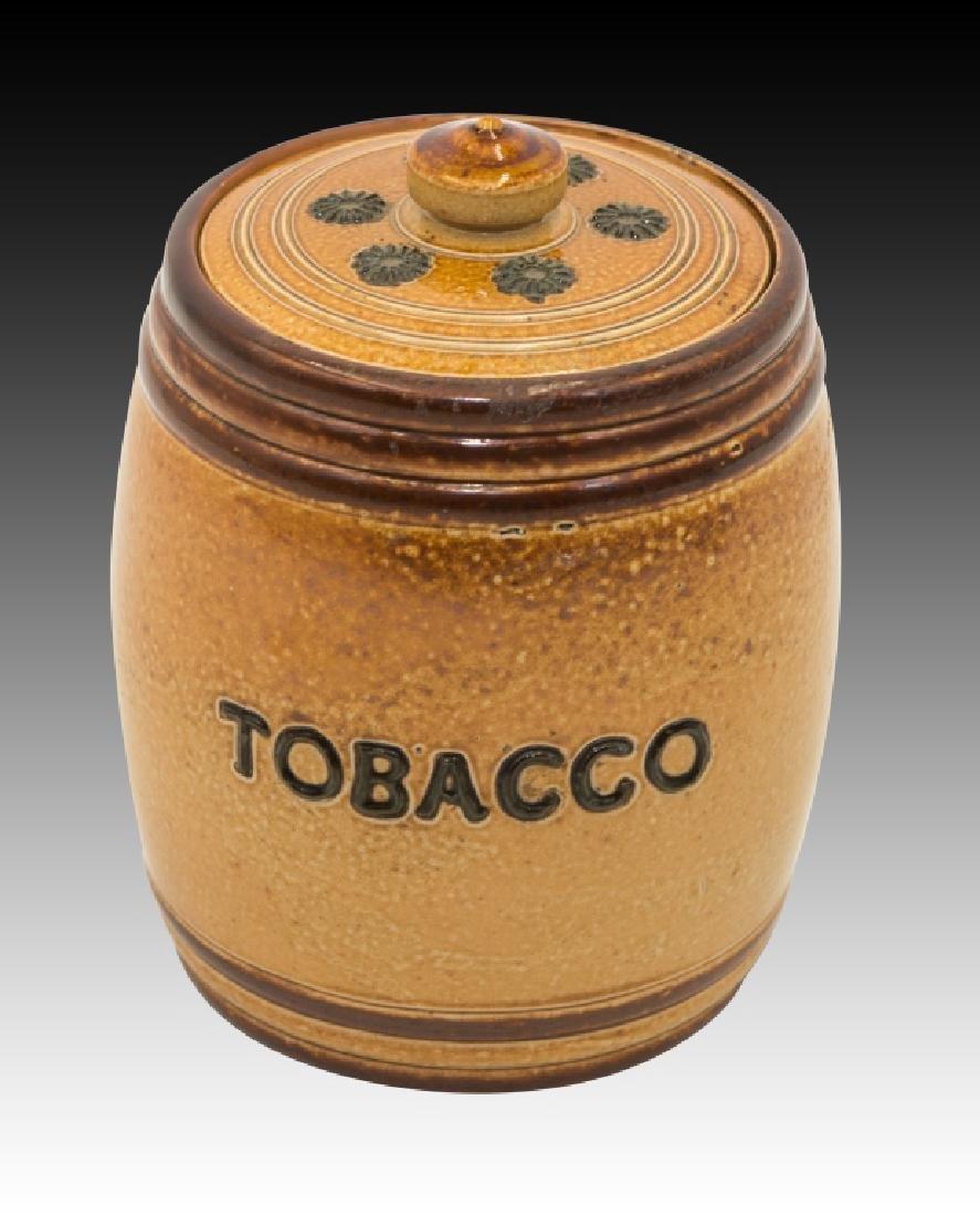 Royal Doulton 2 Stoneware Lidded Tobacco Jars - 9