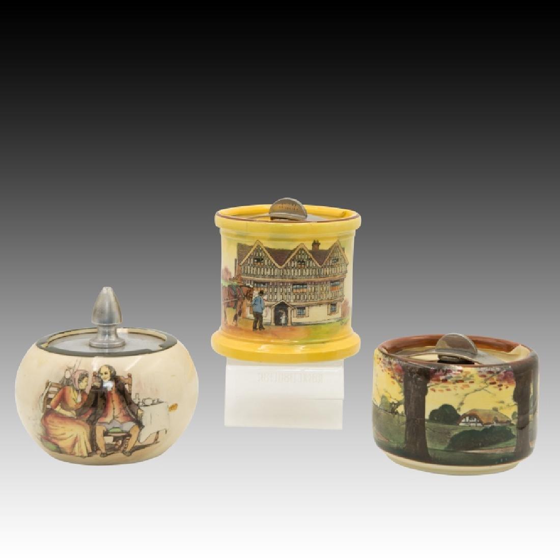 3 Royal Doulton Seriesware Tobacco Jars