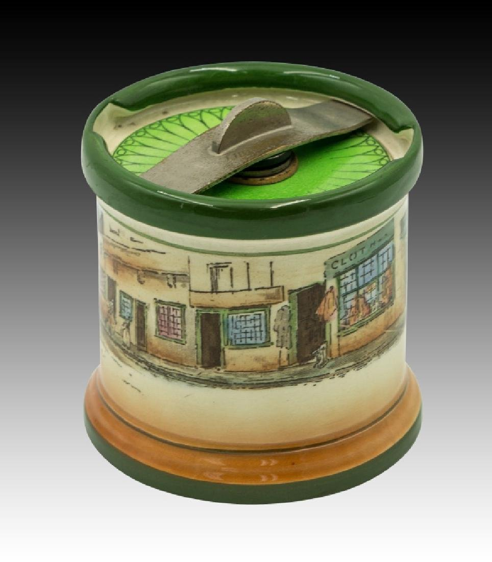 Royal Doulton Dickensware  Dunhill Tobacco Jar - 2