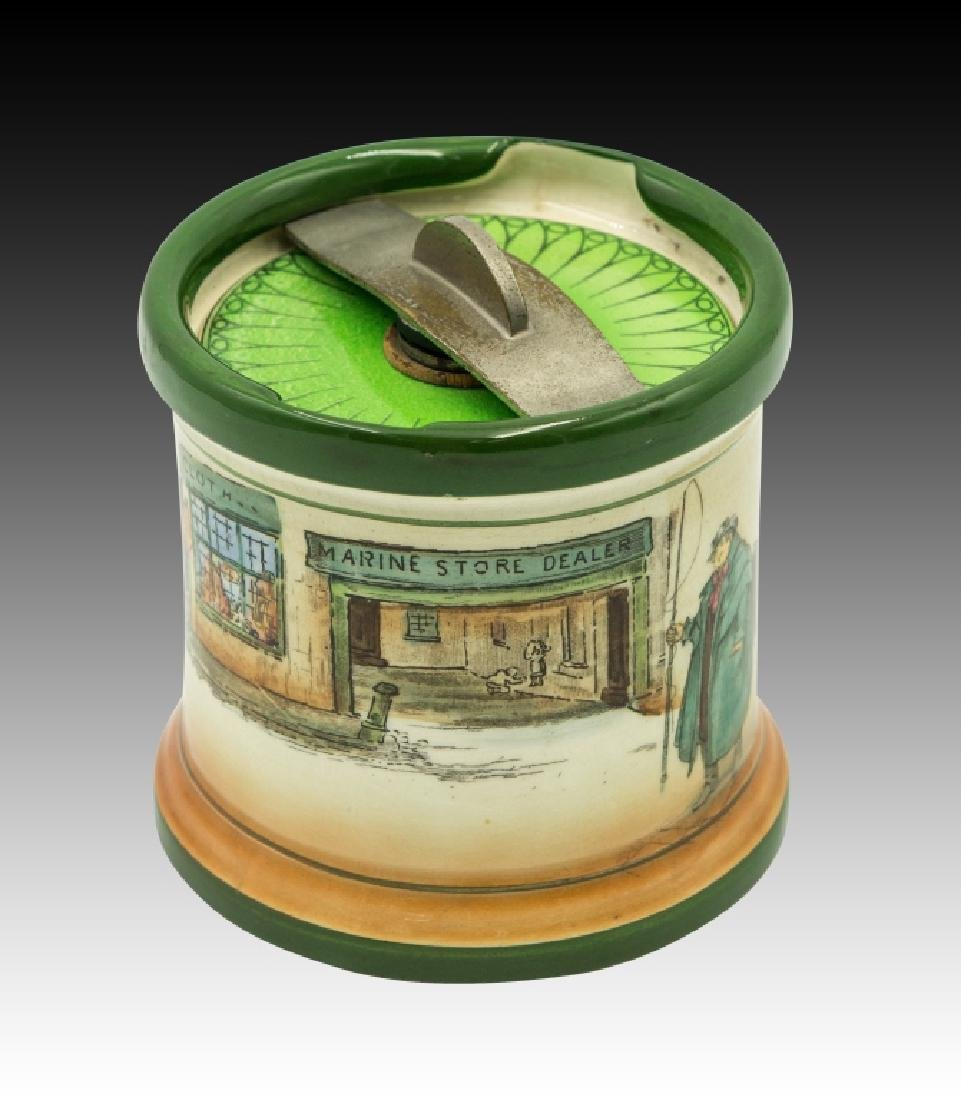 Royal Doulton Dickensware  Dunhill Tobacco Jar - 3