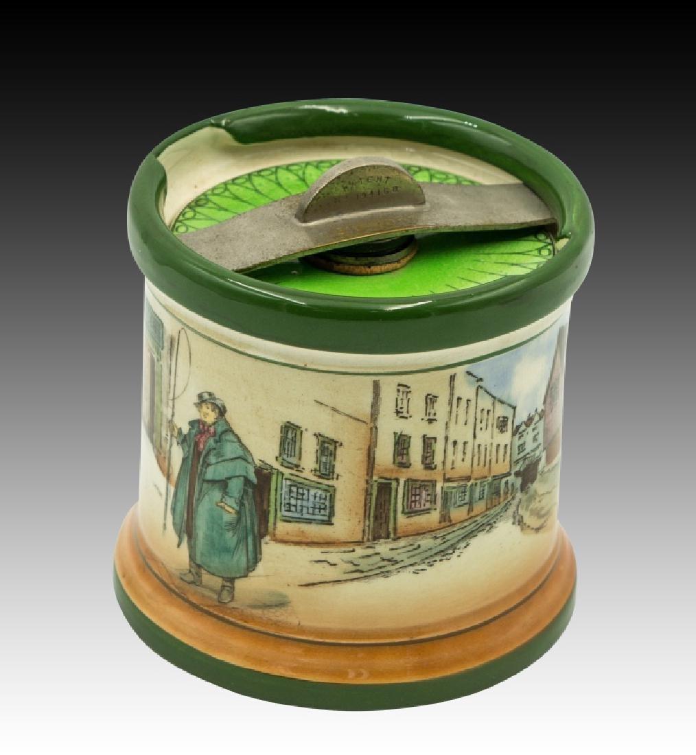 Royal Doulton Dickensware  Dunhill Tobacco Jar - 4