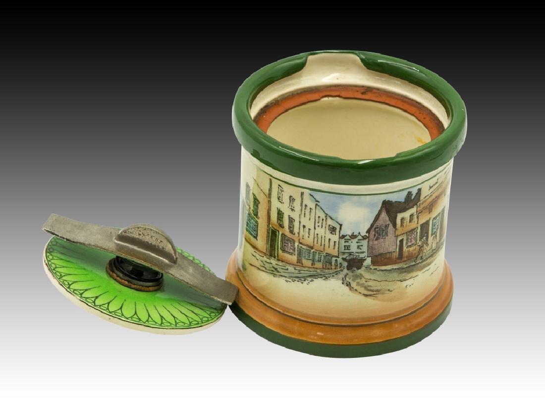 Royal Doulton Dickensware  Dunhill Tobacco Jar - 6