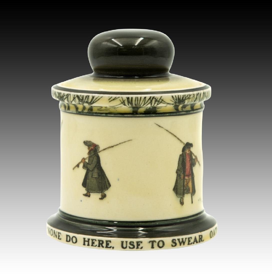 Royal Doulton Isaac Walton Lidded Tobacco Jar