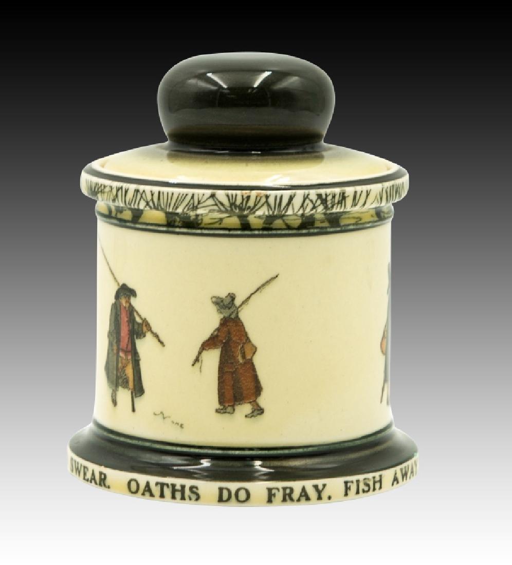 Royal Doulton Isaac Walton Lidded Tobacco Jar - 2