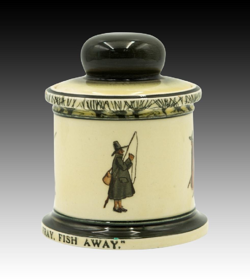 Royal Doulton Isaac Walton Lidded Tobacco Jar - 3