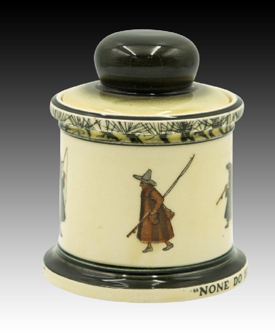 Royal Doulton Isaac Walton Lidded Tobacco Jar - 4