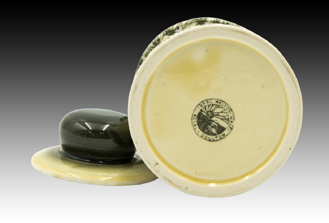 Royal Doulton Isaac Walton Lidded Tobacco Jar - 5