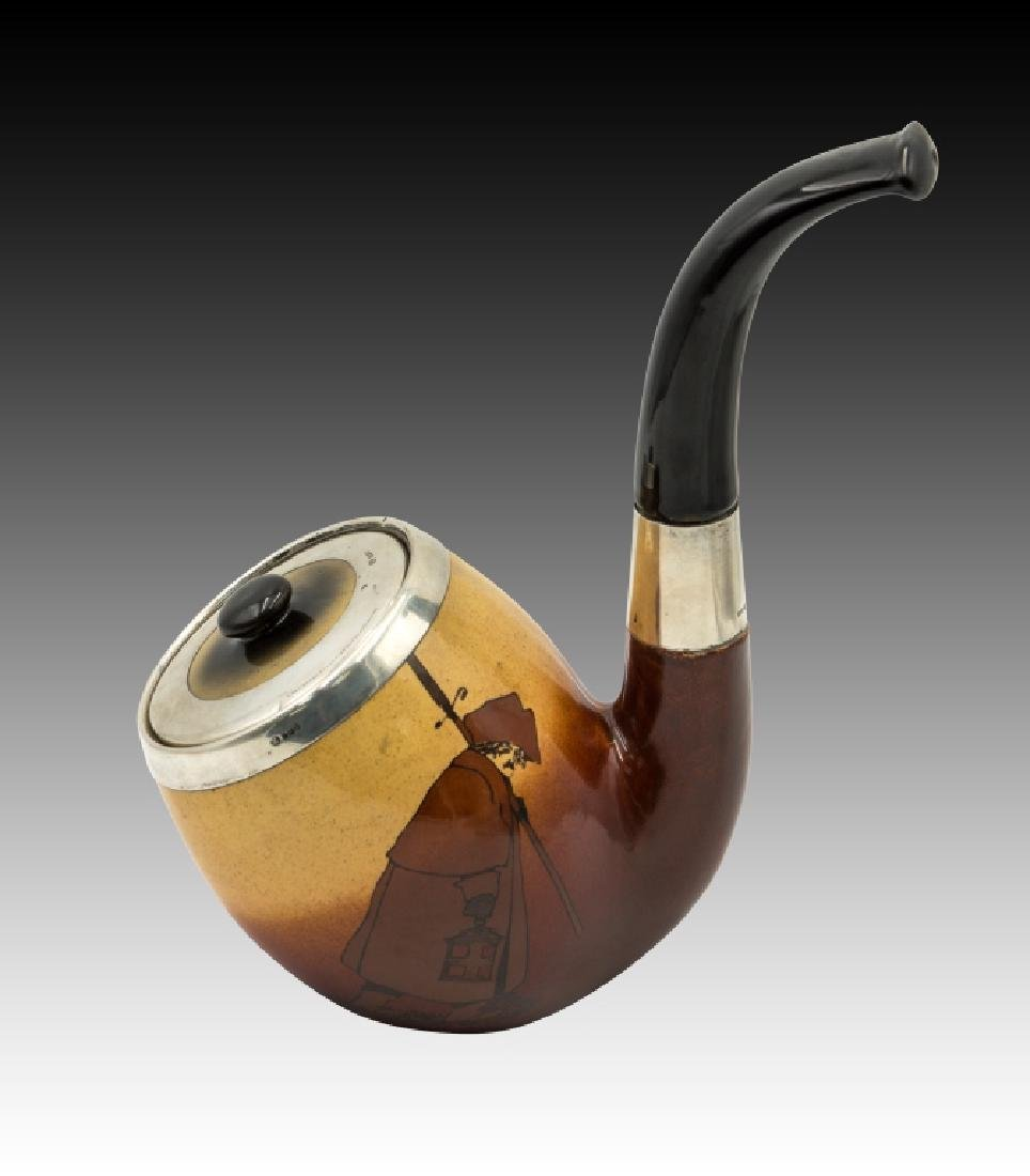 Royal Doulton  Tobacco Jar in the Shape of a Pipe